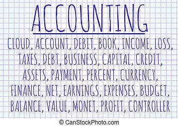 Accounting word cloud