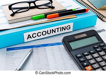 Accounting work desk