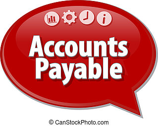 Accounts Payable Business term speech bubble illustration -...