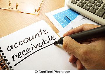 Accounts receivable concept. - Accounts receivable written...
