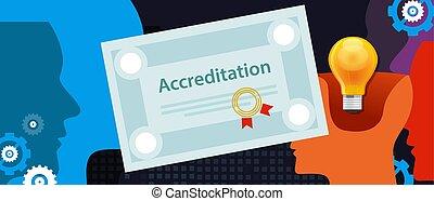accreditation authorized organization business certificate ...