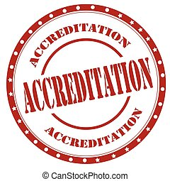 Accreditation-red stamp - Red stamp with text Accreditation...