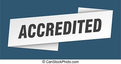 accredited banner template. accredited ribbon label sign