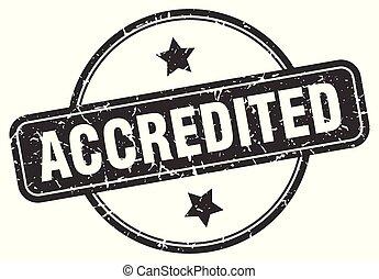 accredited round vintage grunge stamp