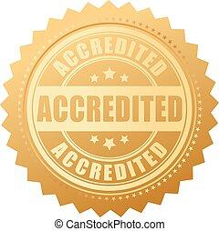 accredited, oro, certificado