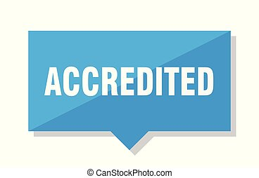 accredited price tag - accredited blue square price tag