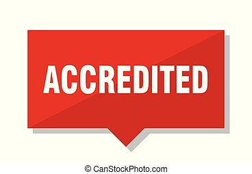 accredited red tag - accredited red square price tag
