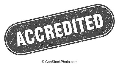 accredited sign. accredited grunge black stamp. Label