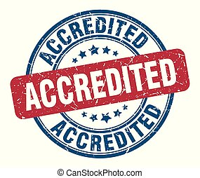 accredited stamp. accredited round grunge sign. accredited
