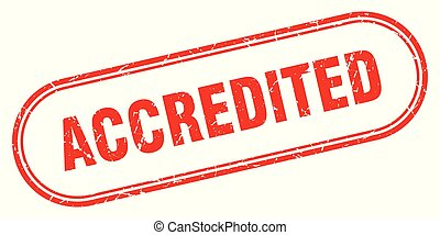 accredited stamp. accredited square grunge sign. accredited