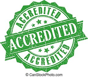 Accredited vector stamp