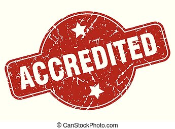 accredited vintage stamp. accredited sign