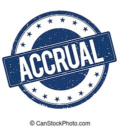ACCRUAL stamp sign text word logo blue.