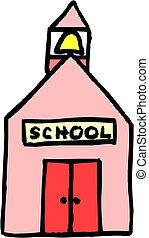 accueil, à, école