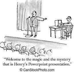 accueil, à, les, magie, et, les, mystère