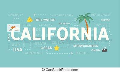 accueil, california.