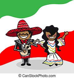 accueil, mexique, gens