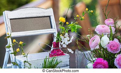 accueil, printemps, salutation, ranunculus