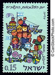 accueilli, nouveau, immigrants, israéliens
