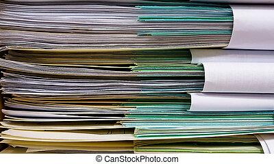 accumulated, rollen, kantoor