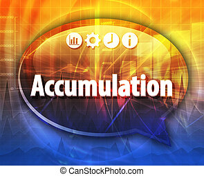 Accumulation Business term speech bubble illustration