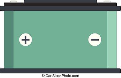 Accumulator icon, flat style - Accumulator icon. Flat...
