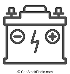 Accumulator line icon. Battery vector illustration isolated on white. Charge outline style design, designed for web and app. Eps 10.