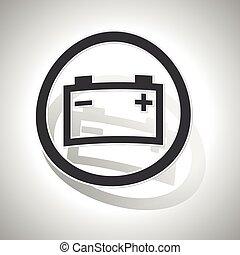 Accumulator sign sticker, curved