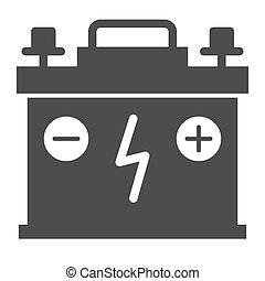 Accumulator solid icon. Battery vector illustration isolated on white. Charge glyph style design, designed for web and app. Eps 10.
