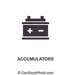 Accumulators creative icon. Simple element illustration. Accumulators concept symbol design from car parts collection. Can be used for web, mobile, web design, apps, software, print.