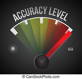 accuracy level level measure meter from low to high, concept illustration design