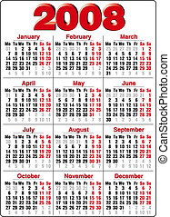 Calendar - Accurate Calendar for 2008 year