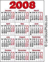 Calendar - Accurate Calendar for 2008 year