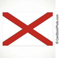 accurate correct alabama al state flag vector