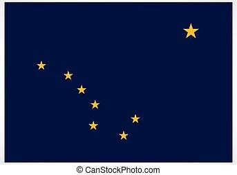 accurate correct alaska ak state flag vector