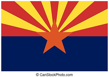 accurate correct arizona state flag vector