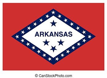 accurate correct arkansas ar state flag vector