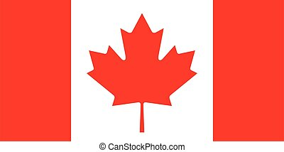 accurate correct flag of Canada vector
