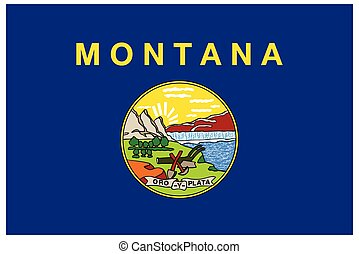 accurate correct montana mt state flag vector