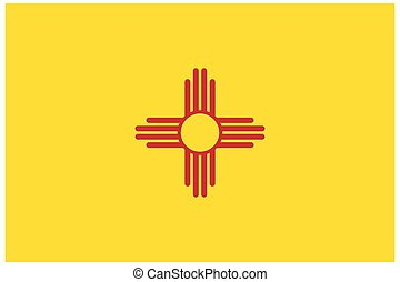 accurate correct new mexico nm state flag vector