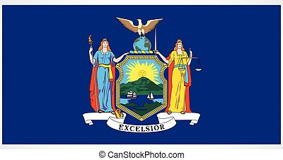 accurate correct new york ny state flag vector