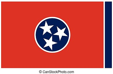 accurate correct tennessee tn state flag vector