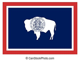 accurate correct wyoming wy state flag vector