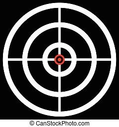 accuratezza, mirare, bersaglio, reticle., caccia, marchio, ...