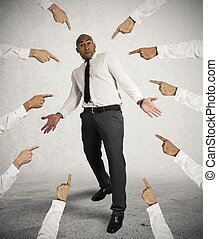 Accused businessman - Concept of accused businessman with...