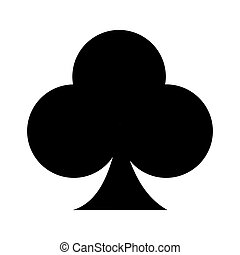 ace of clover isolated icon design