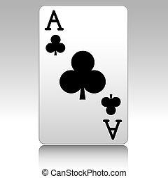 Ace of clubs - Ace-Poker-Casino- Card-Gambling-Shaddow