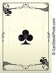 Ace Of Clubs grunge background