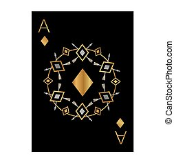 the illustration - playing card - Ace of Diamonds.