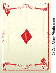 An Ace Of Diamonds with a texture.